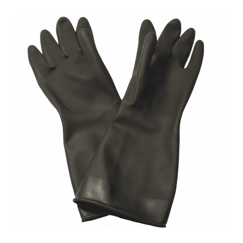 Black Tough Rubber Gloves