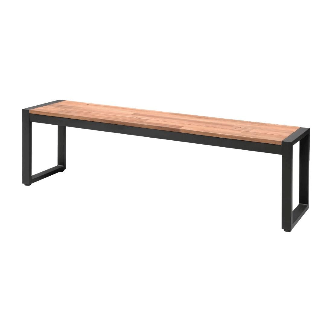 Bolero Steel + Acacia Bench