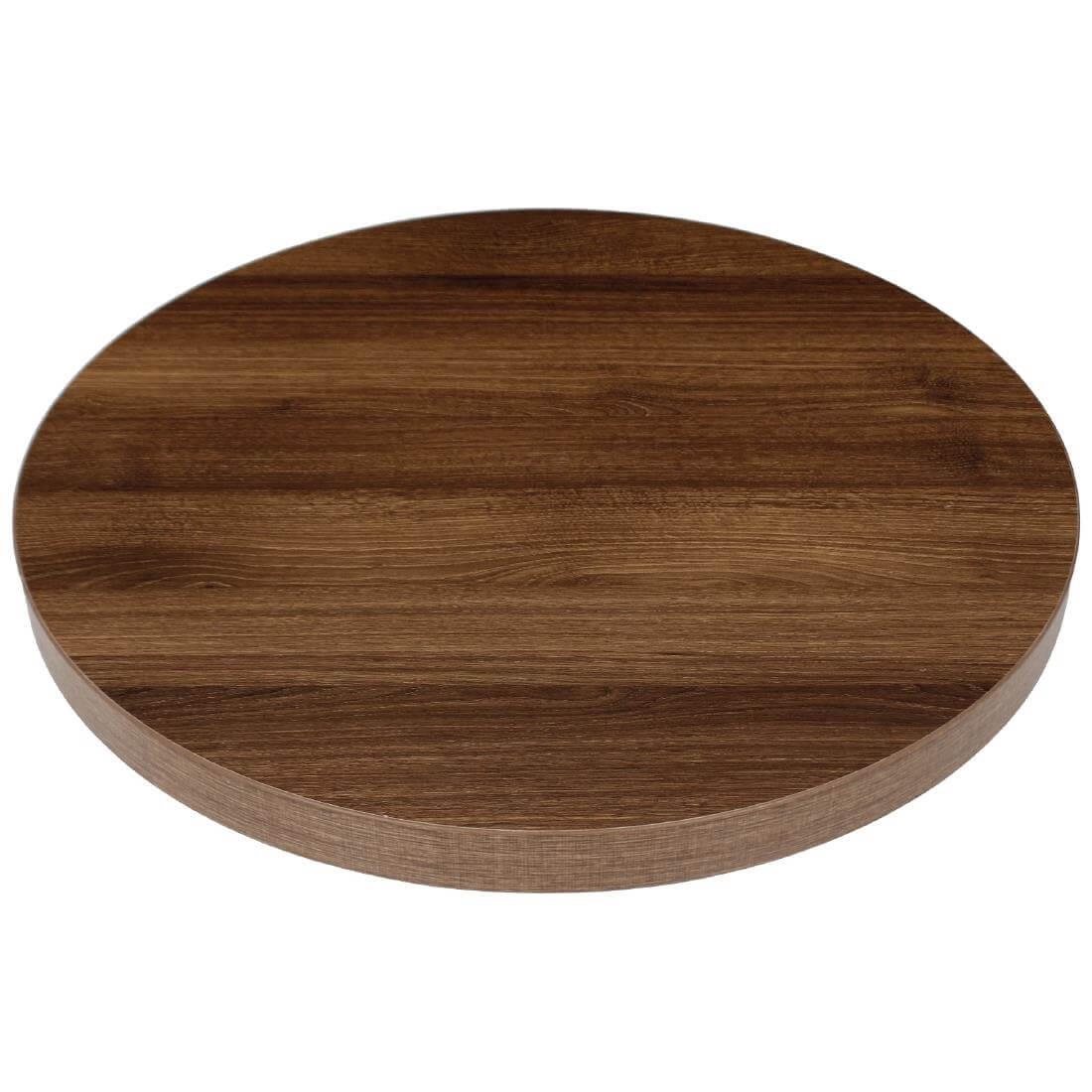 Bolero Thick Round - Rustic Oak Effect