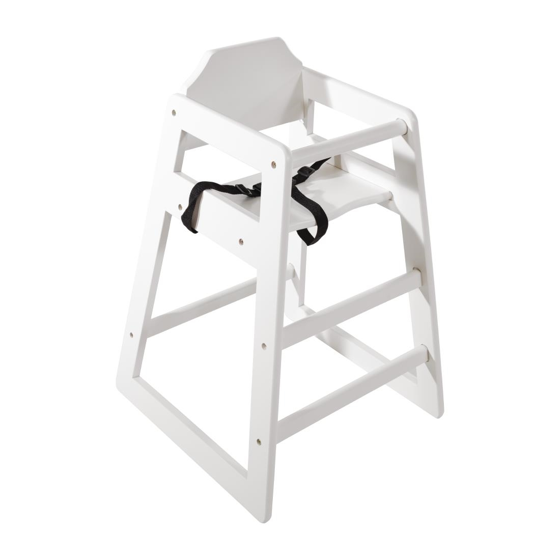 Bolero Wooden High Chair - Antique White