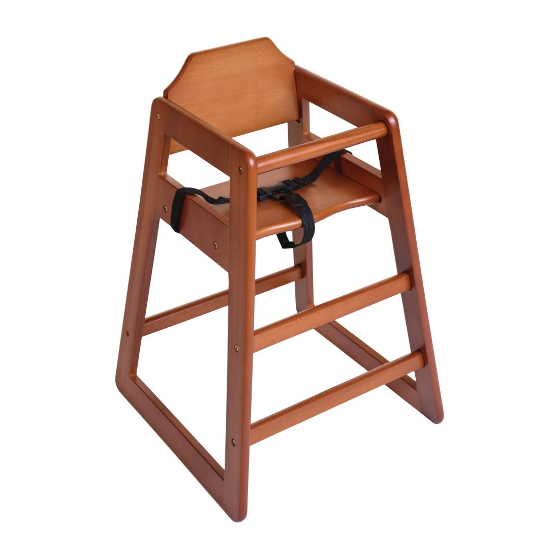 Bolero Wooden High Chair - Dark Wood