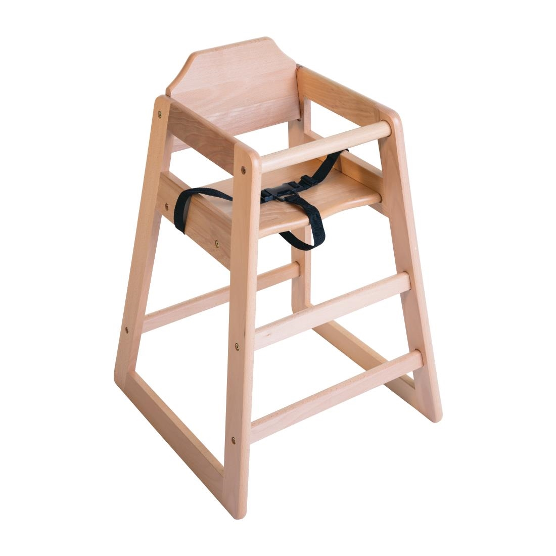 Bolero Wooden High Chair - Natural