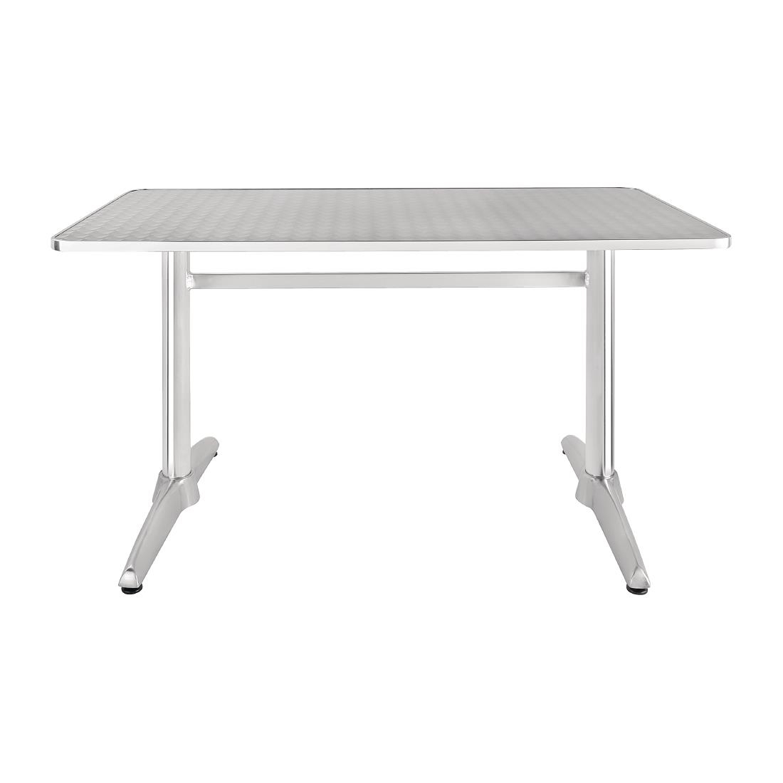 Double Pedestal Stainless Steel Table