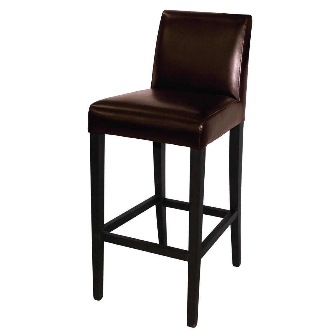 Faux Leather High Chair - Dark Brown