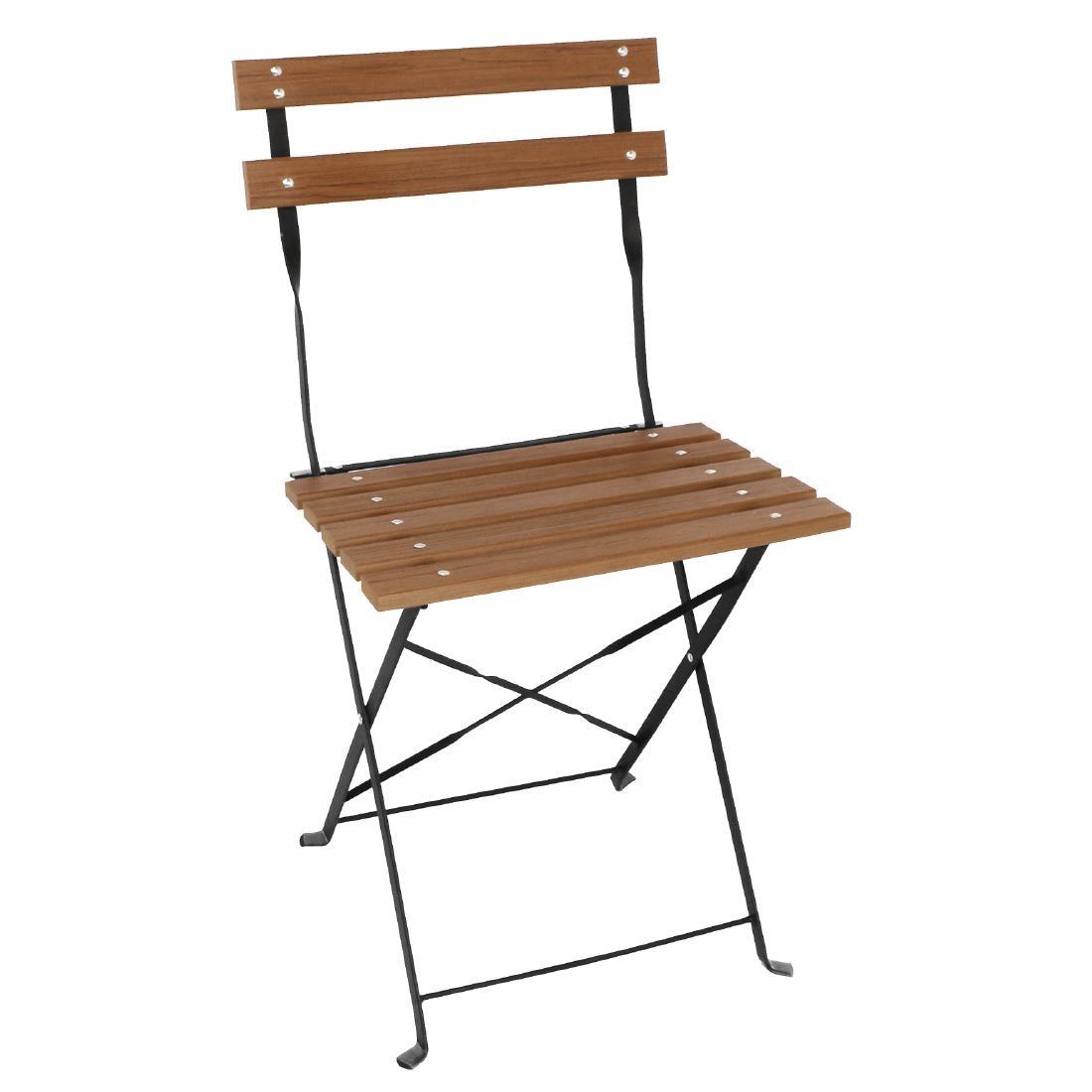 Faux Wood Folding Chair