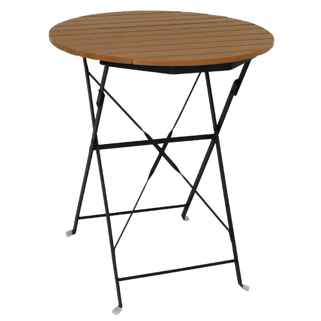 Faux Wood Folding Table - Round