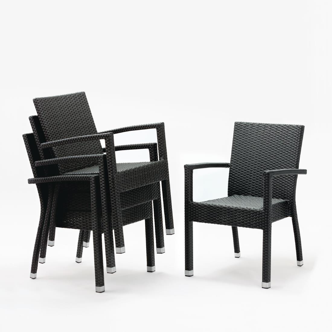 Rattan Armchair DL47 - Charcoal