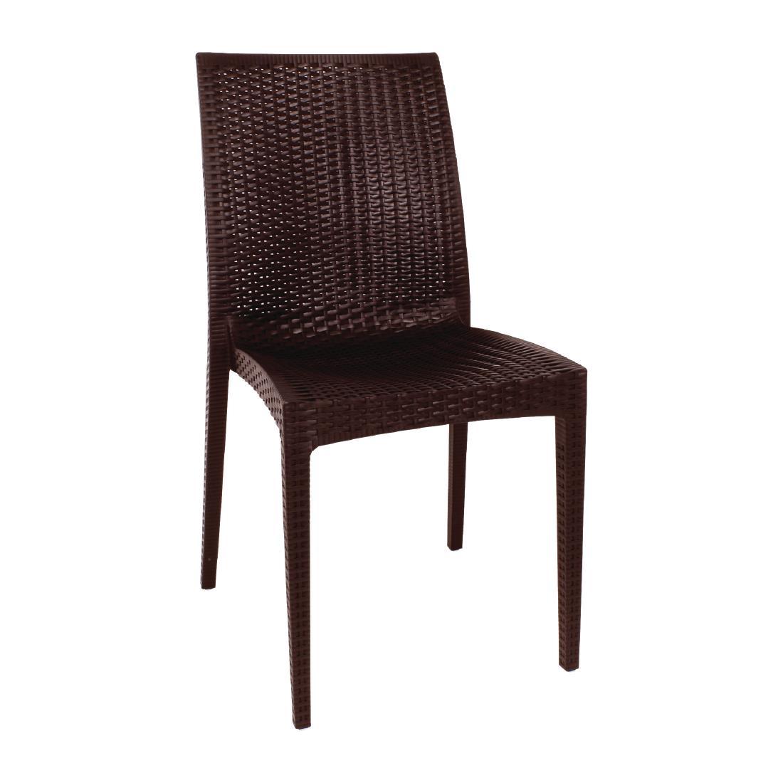 Rattan Bistro Side Chair GR36