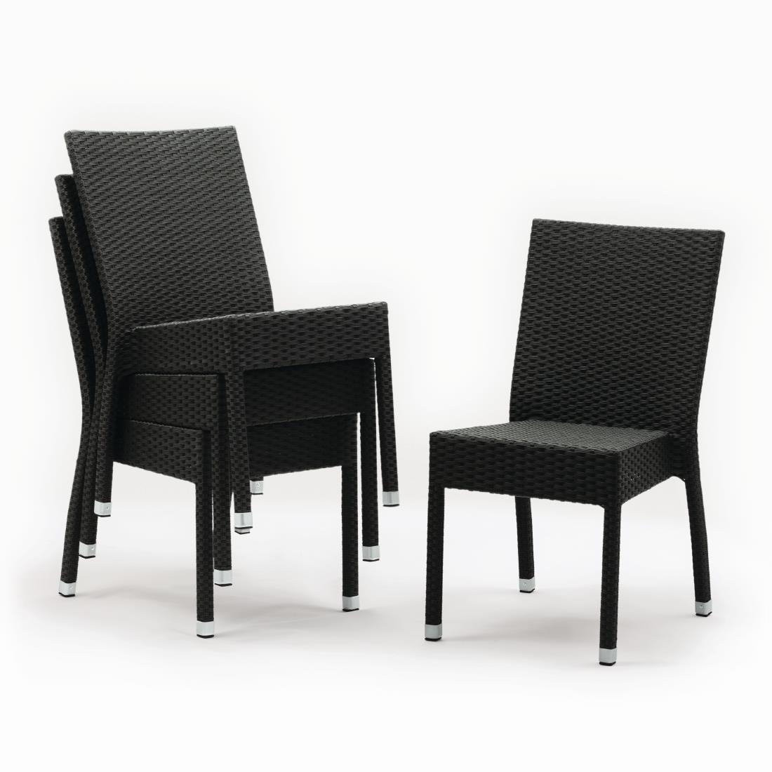 Rattan Side Chair CF15 - Charcoal