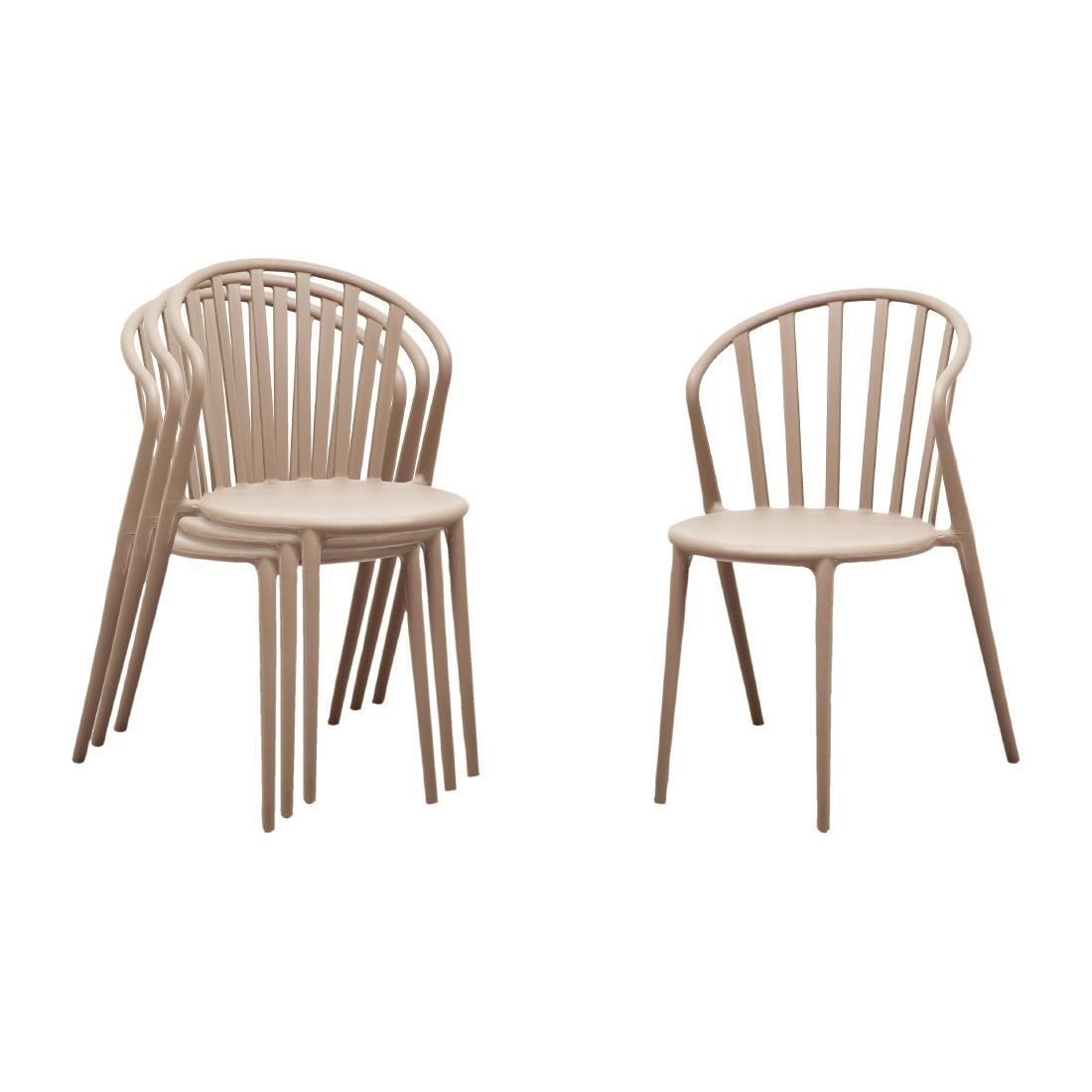 Slatted Armchair - White