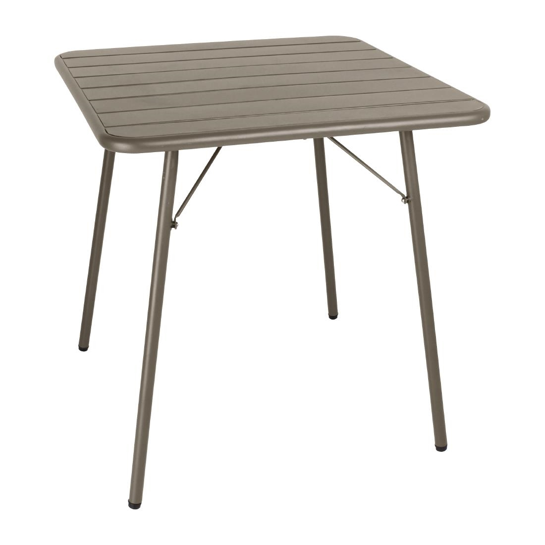 Slatted Steel Table - Coffee