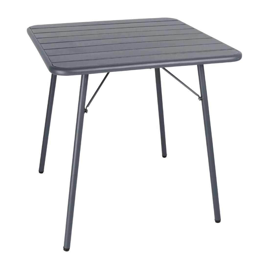 Slatted Steel Table - Grey