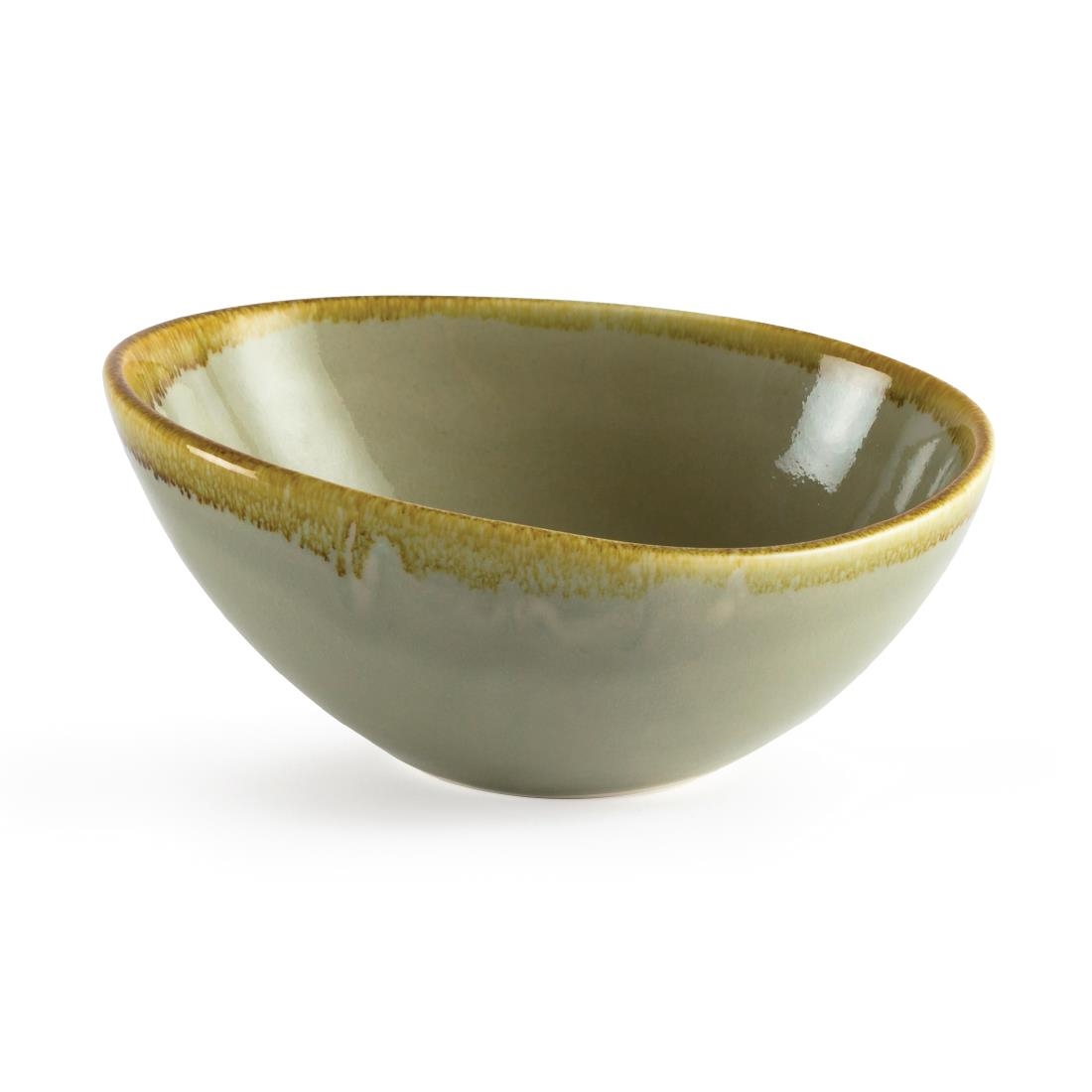 Sloping Bowl - Moss