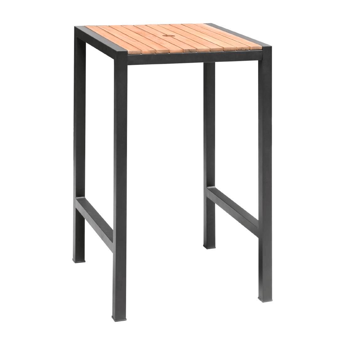 Steel + Acacia Bar Table