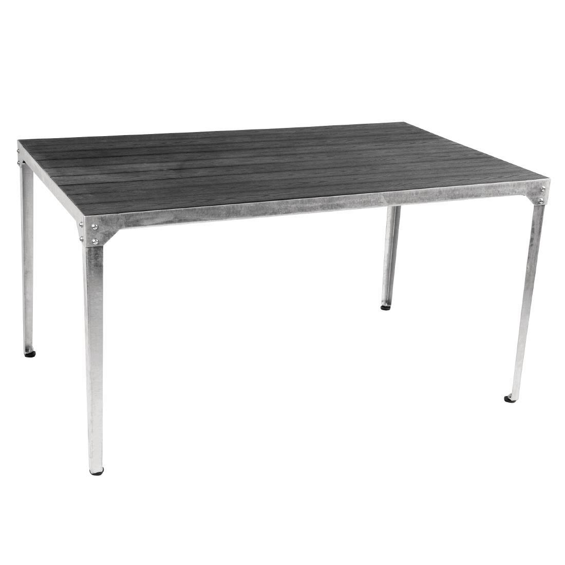 Steel + Faux Wood Table