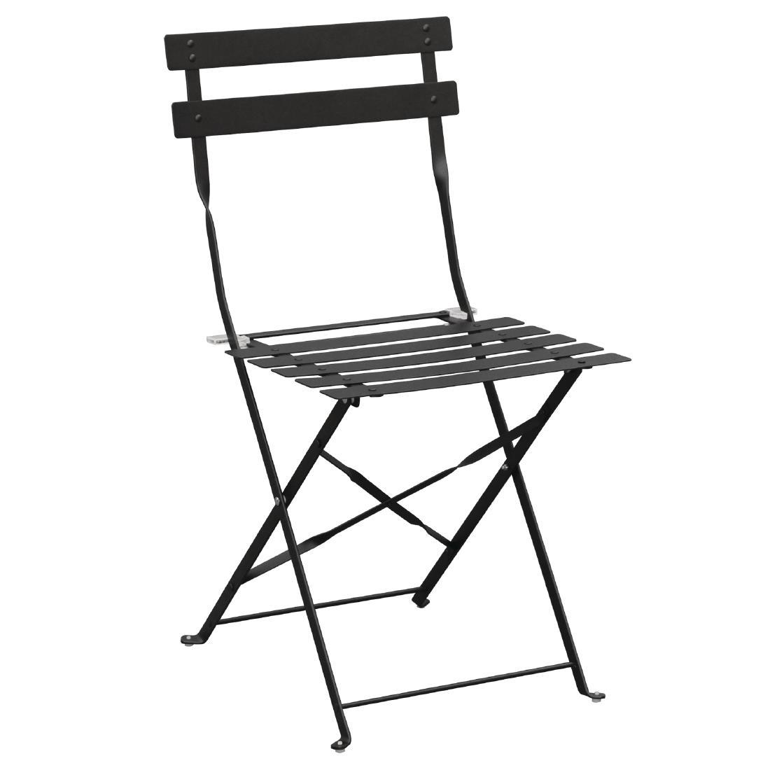 Steel Folding Chair - Black
