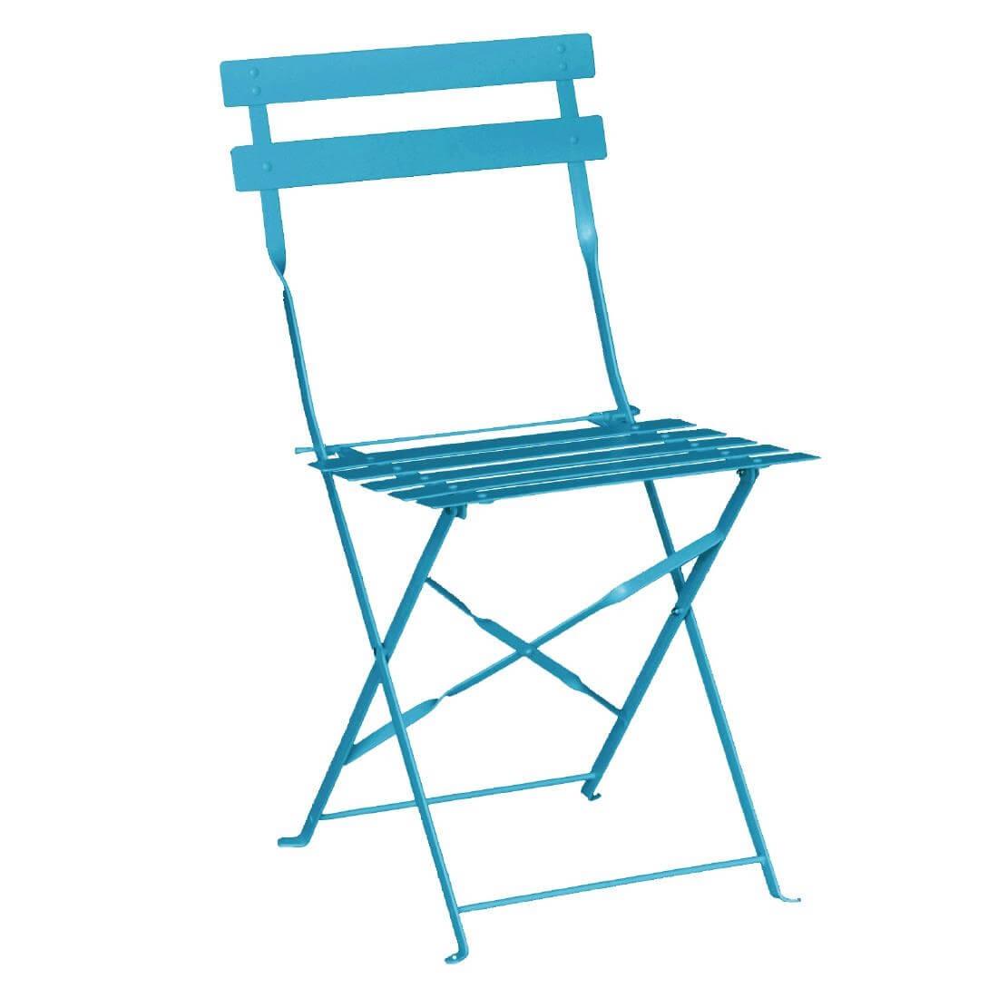 Steel Folding Chair - Blue