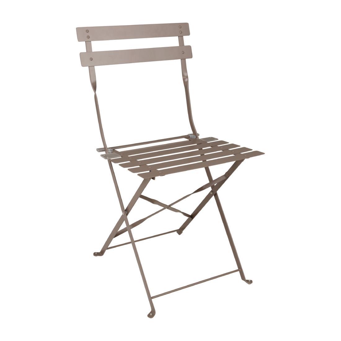 Steel Folding Chair - Coffee