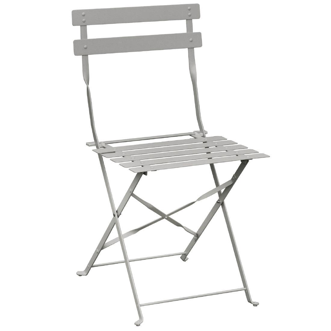 Steel Folding Chair - Grey