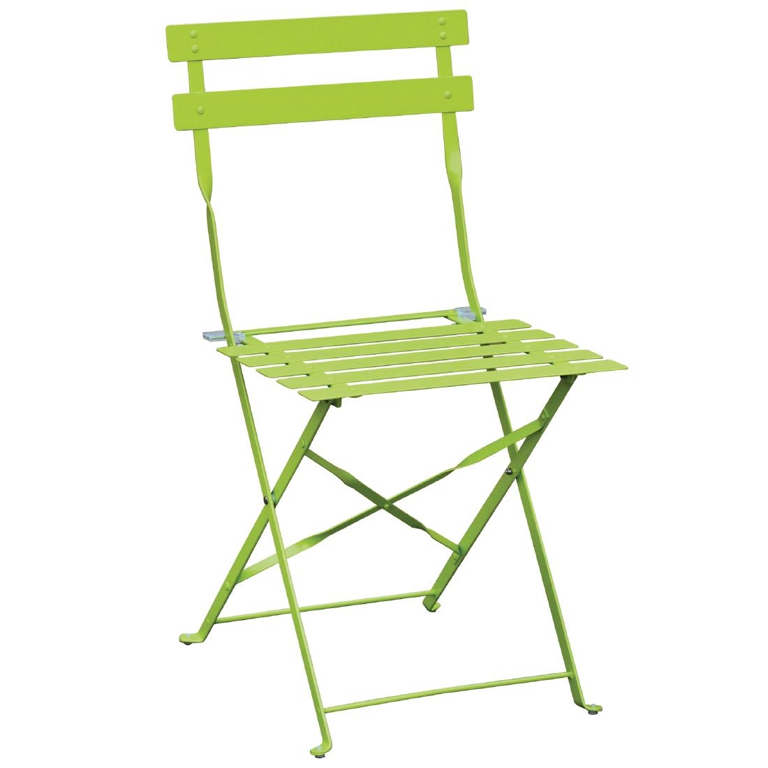 Steel Folding Chair - Lime