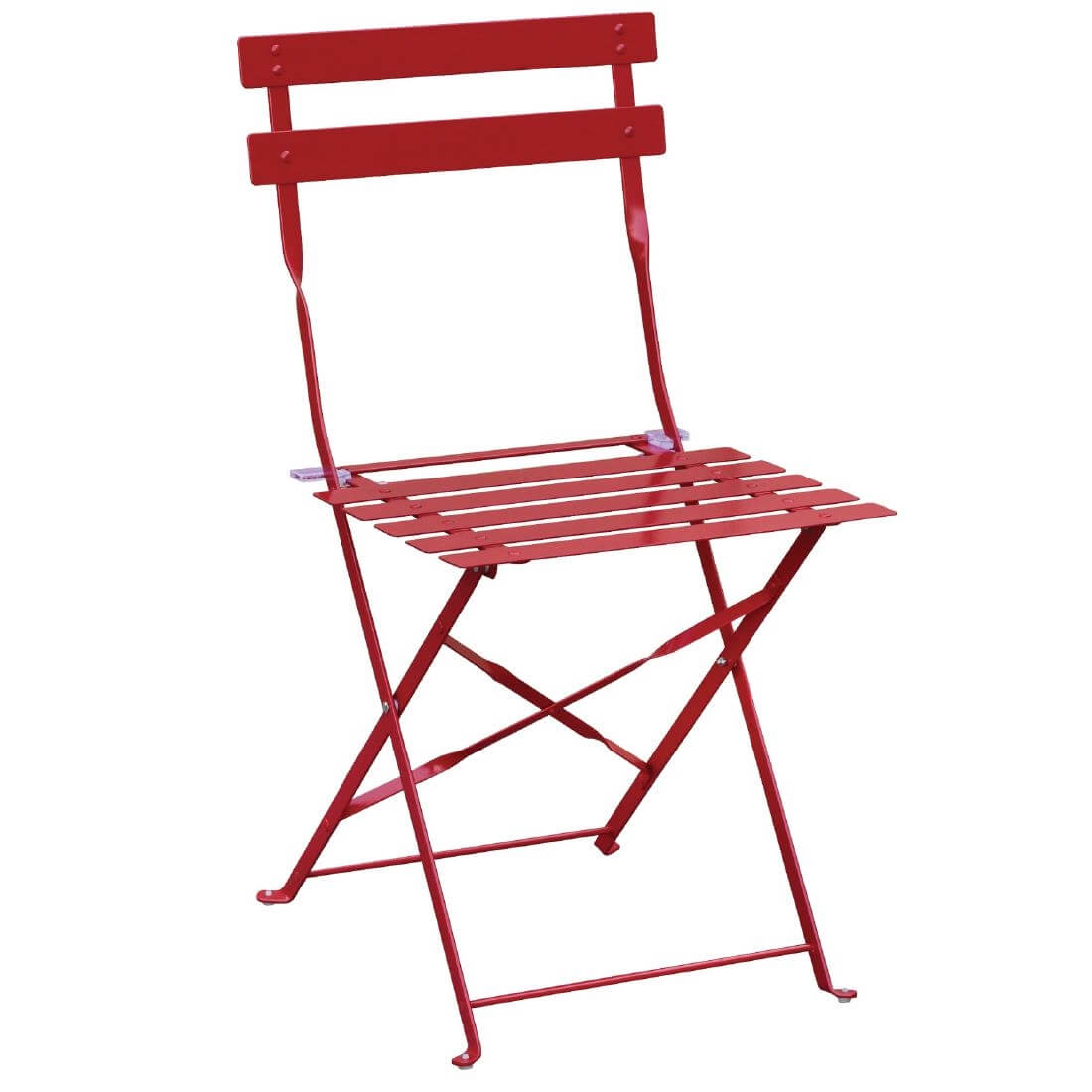 Steel Folding Chair - Red