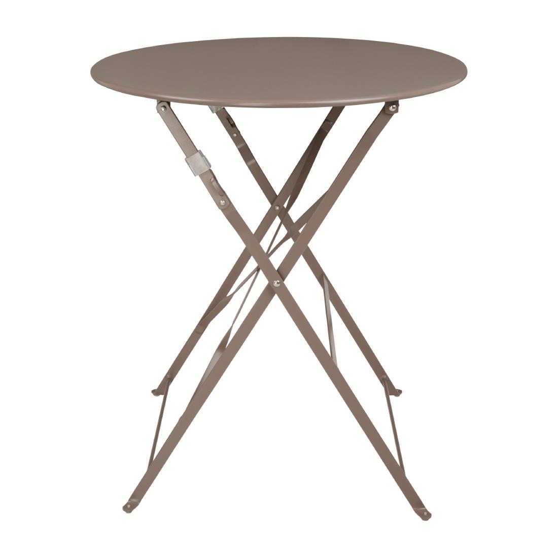 Steel Folding Table Round - Coffee
