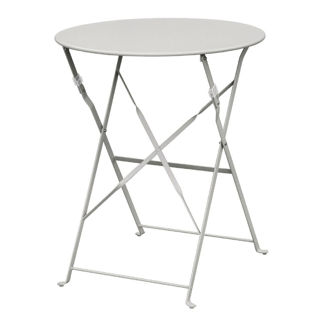Steel Folding Table Round - Grey