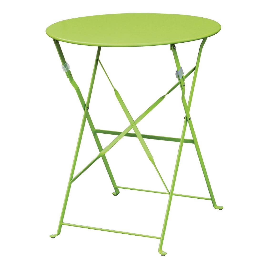 Steel Folding Table Round - Lime