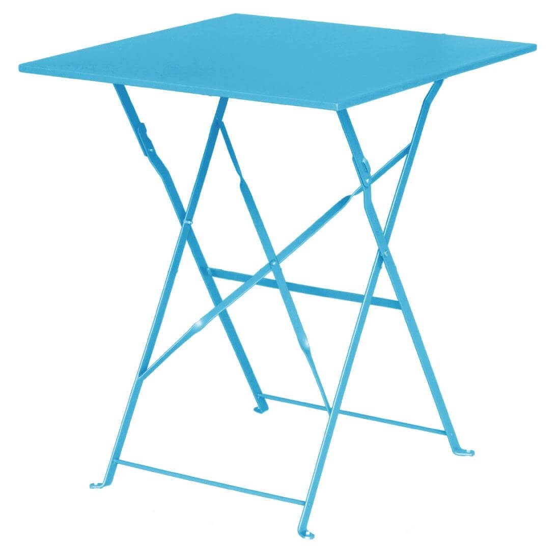 Steel Folding Table Square - Blue