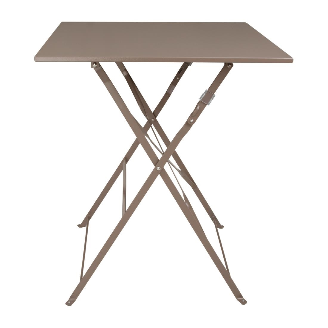 Steel Folding Table Square - Coffee