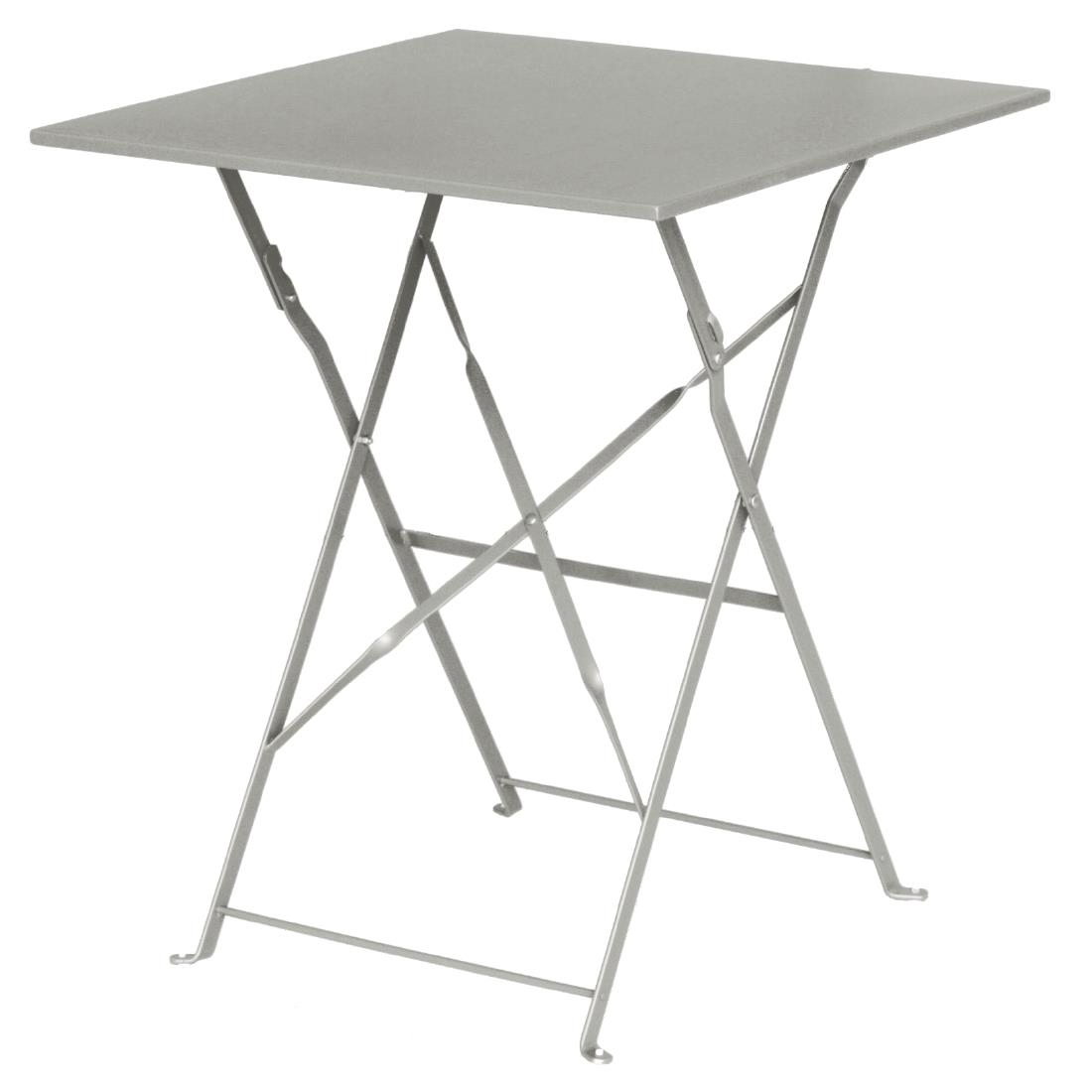 Steel Folding Table Square - Grey