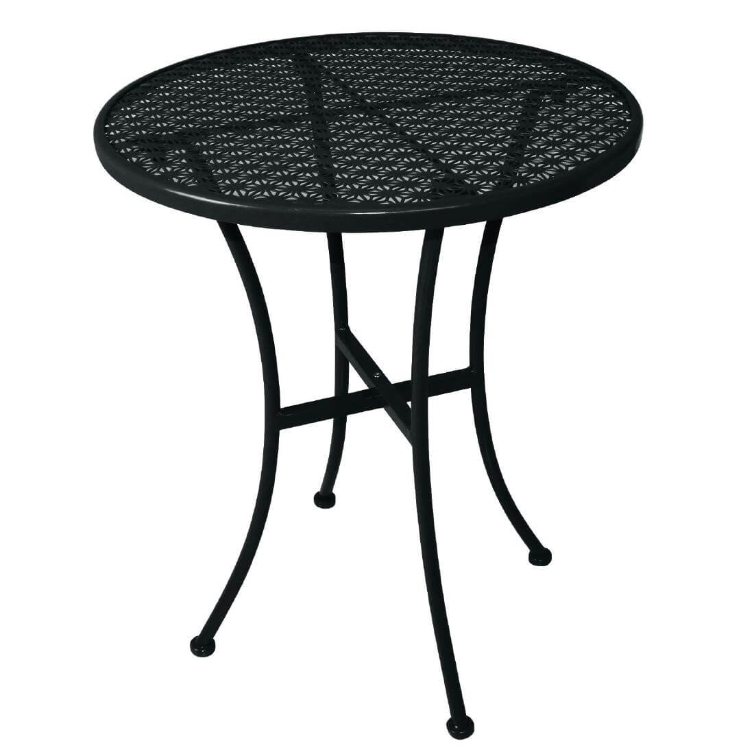 Steel Patterned Round Table - Black