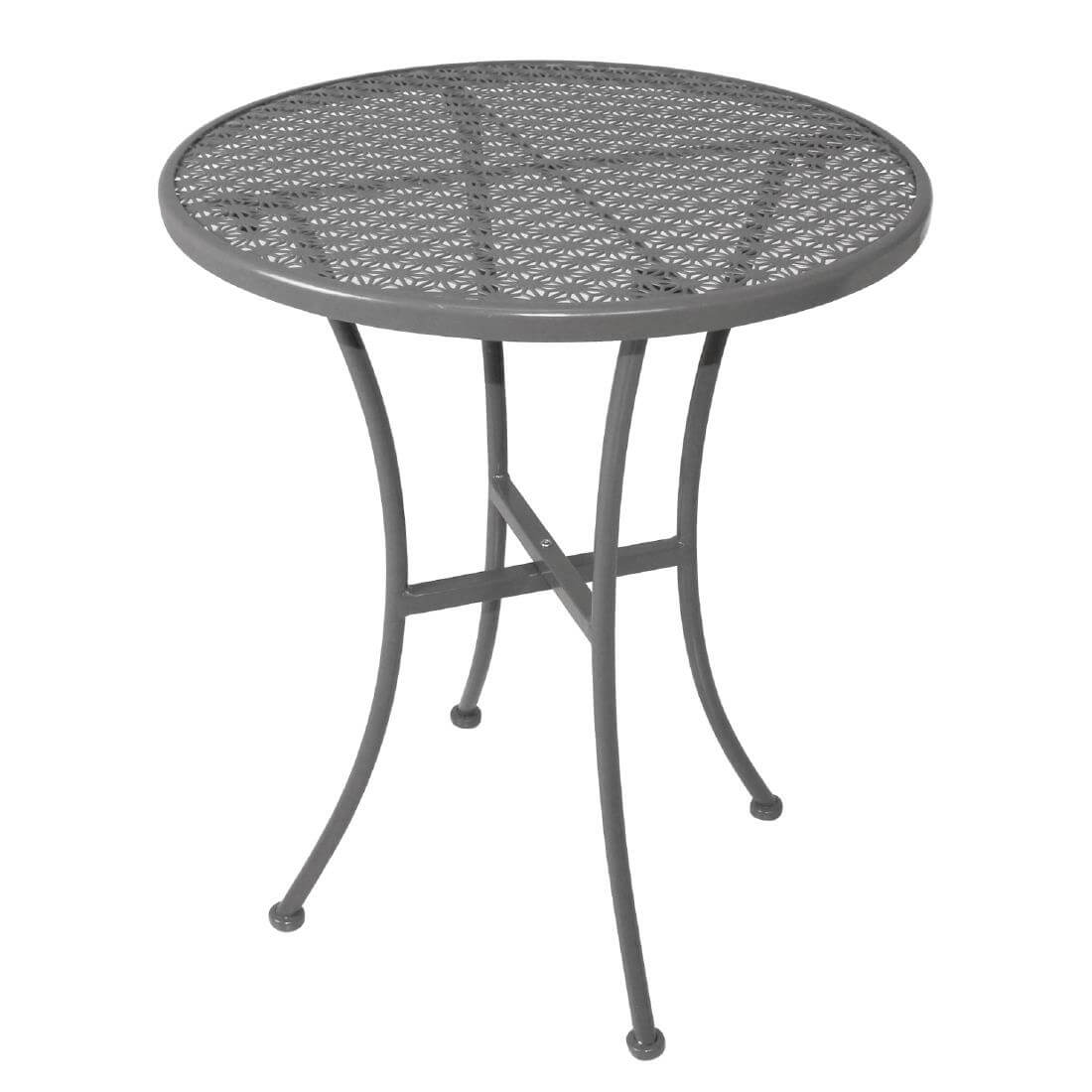Steel Patterned Round Table - Grey