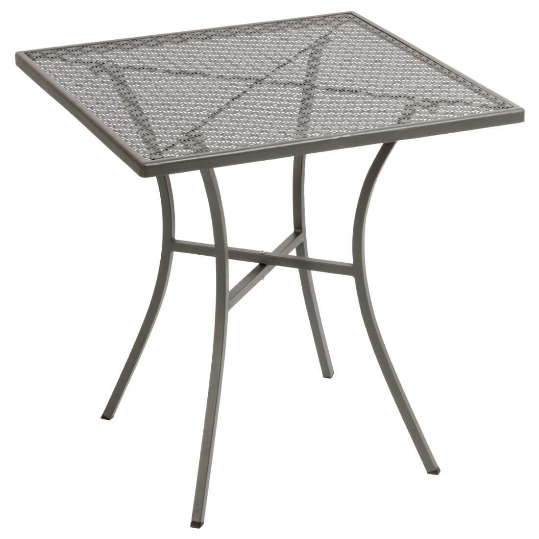 Steel Patterned Square Table - Grey