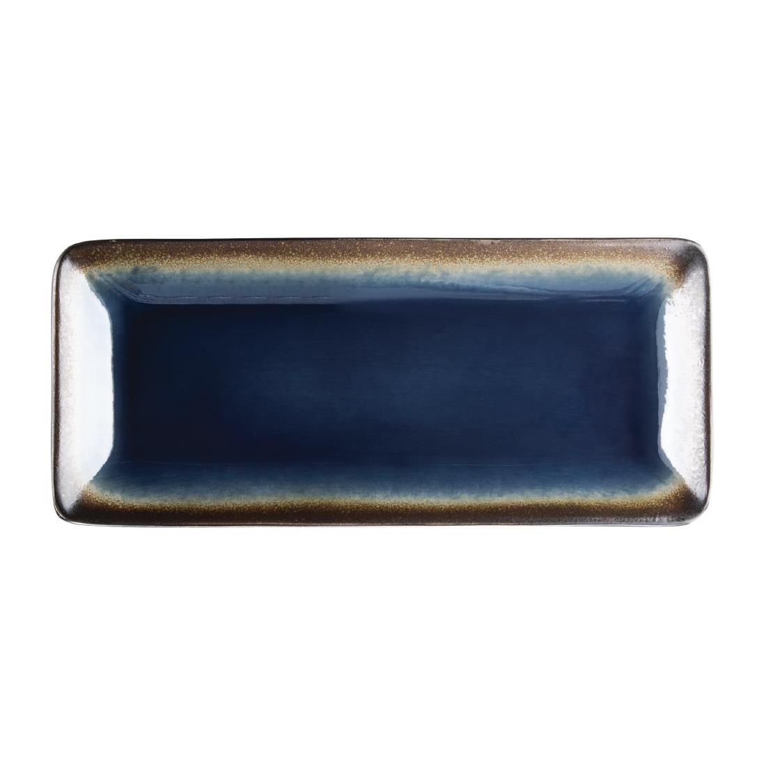 Tapas Rectangular Plate - Blue