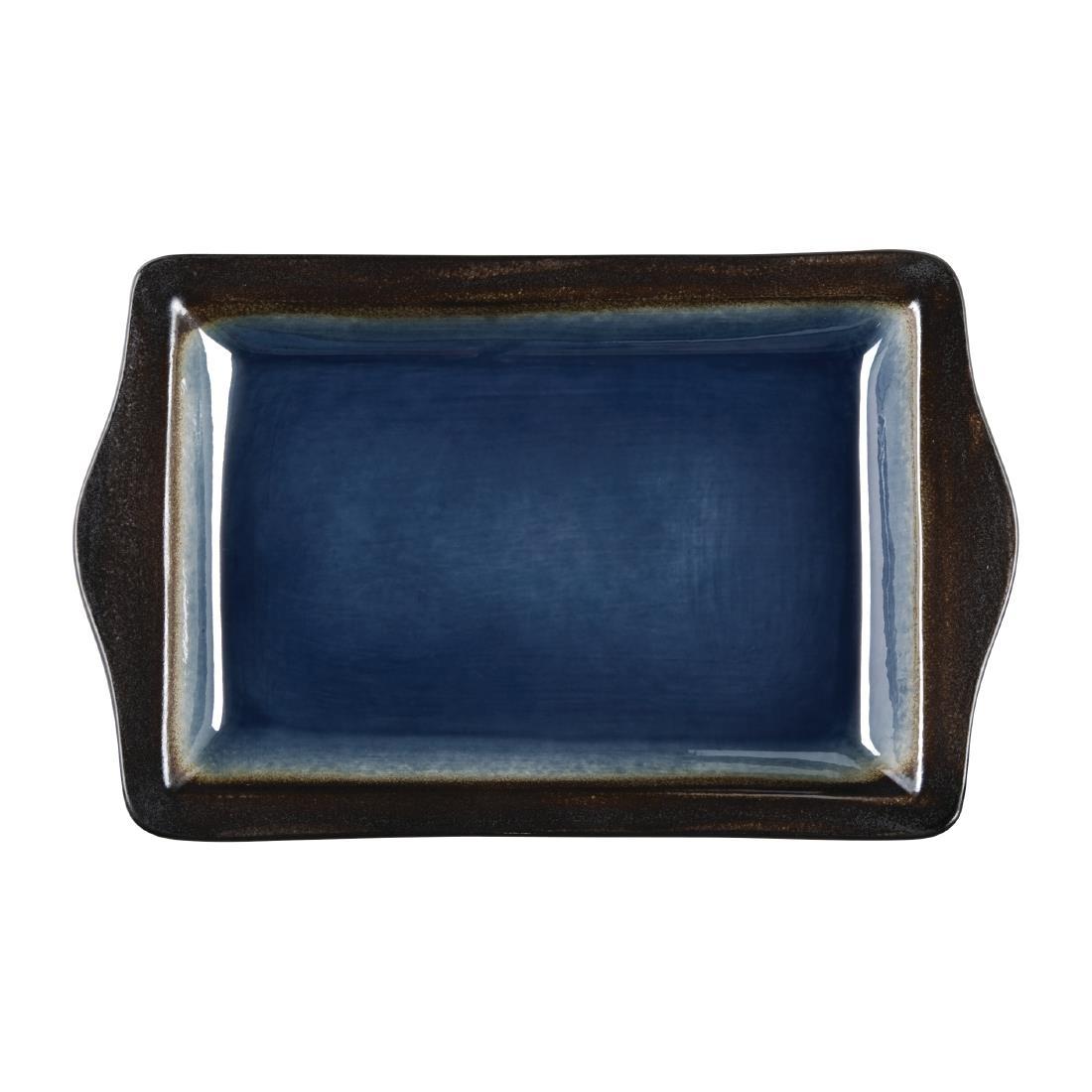 Tapas Rectangular Tray - Blue