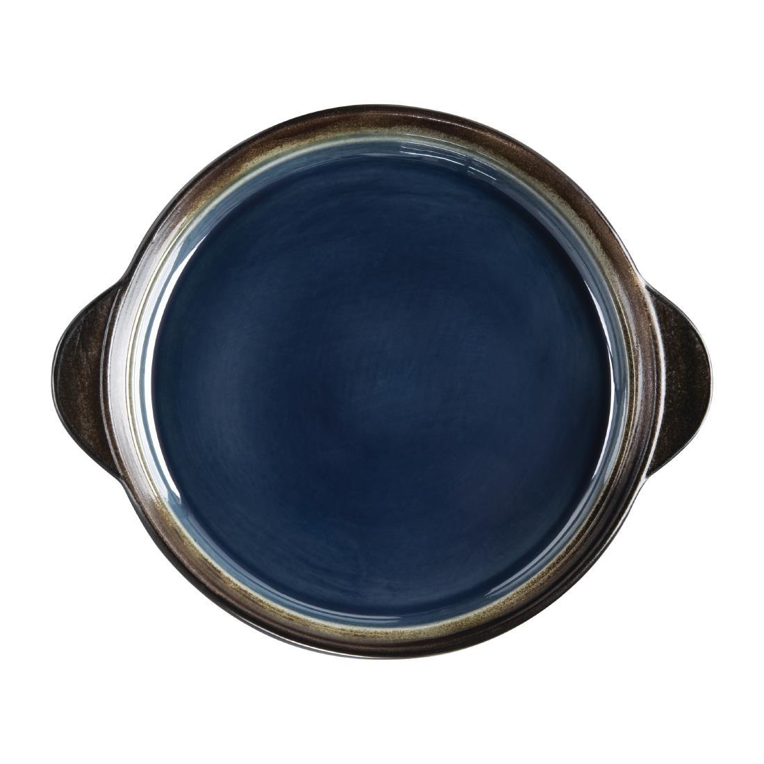 Tapas Round Tray - Blue