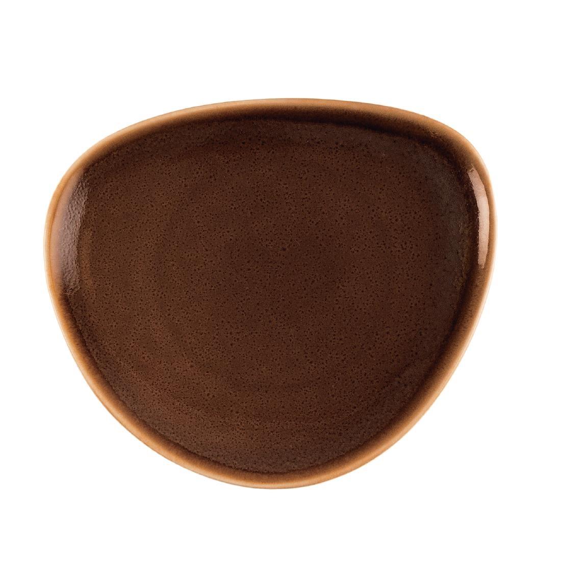 Triangular Plate - Bark