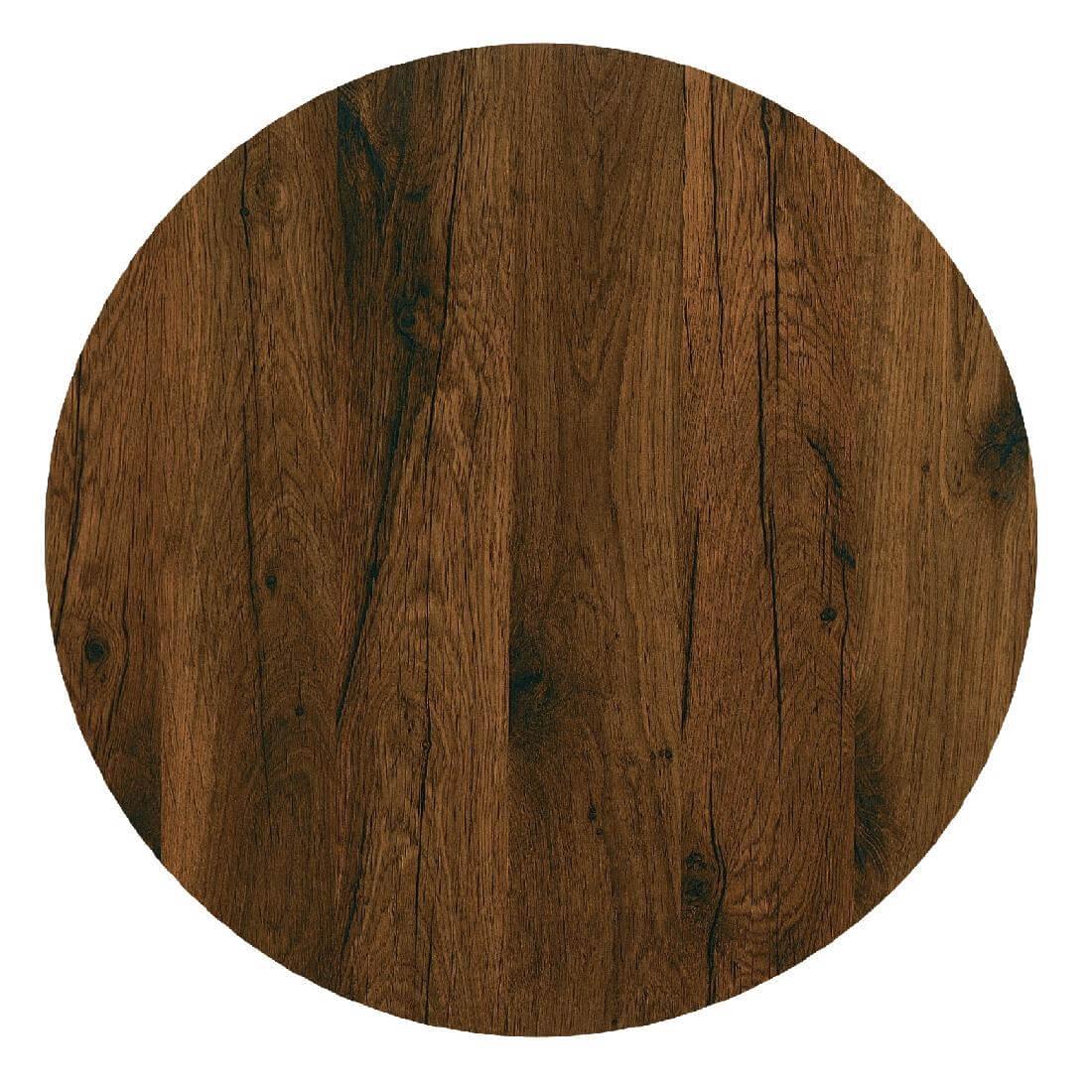 Werzalit Round - Antique Oak