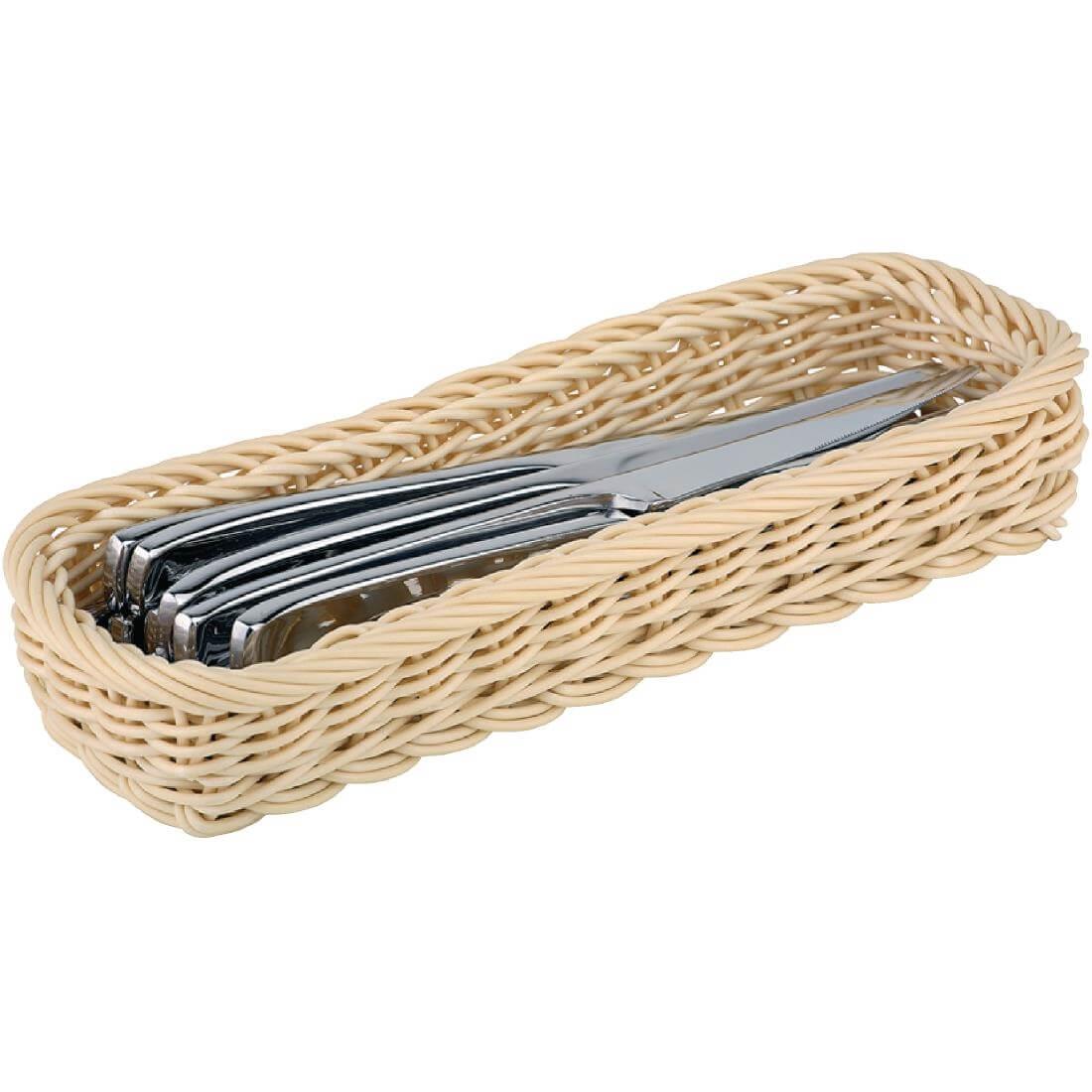 APS Polypropylene Rectangular Rattan Basket