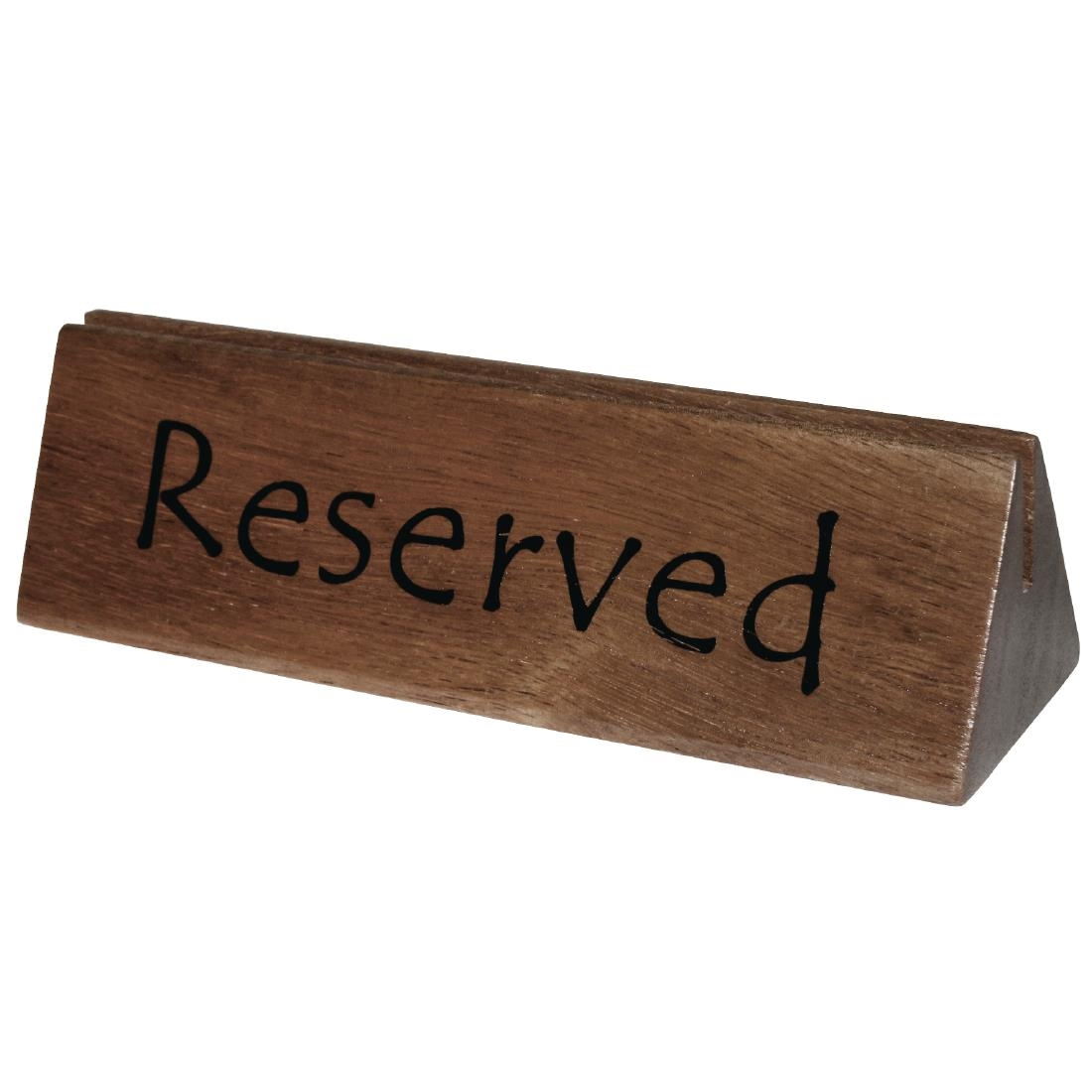 Olympia Acacia Menu Holder and Reserved Sign