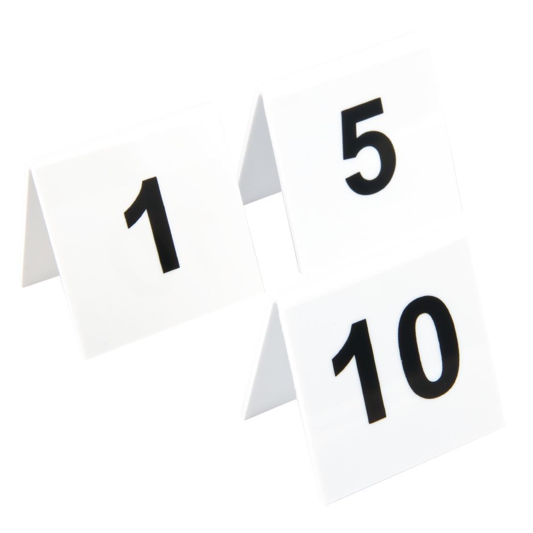 Plastic Table Numbers 1-10