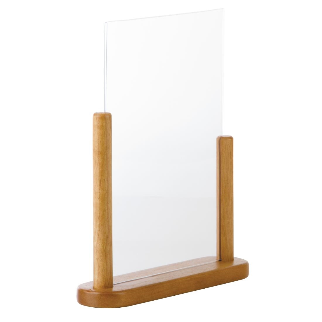 Securit Acrylic Menu Holder With Wooden Frame