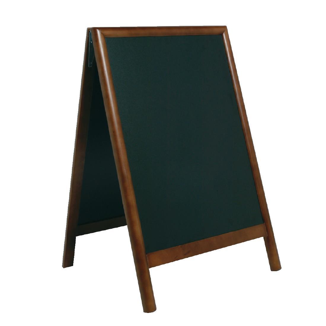 Securit Duplo Pavement Board 850 x 550mm Dark Wood