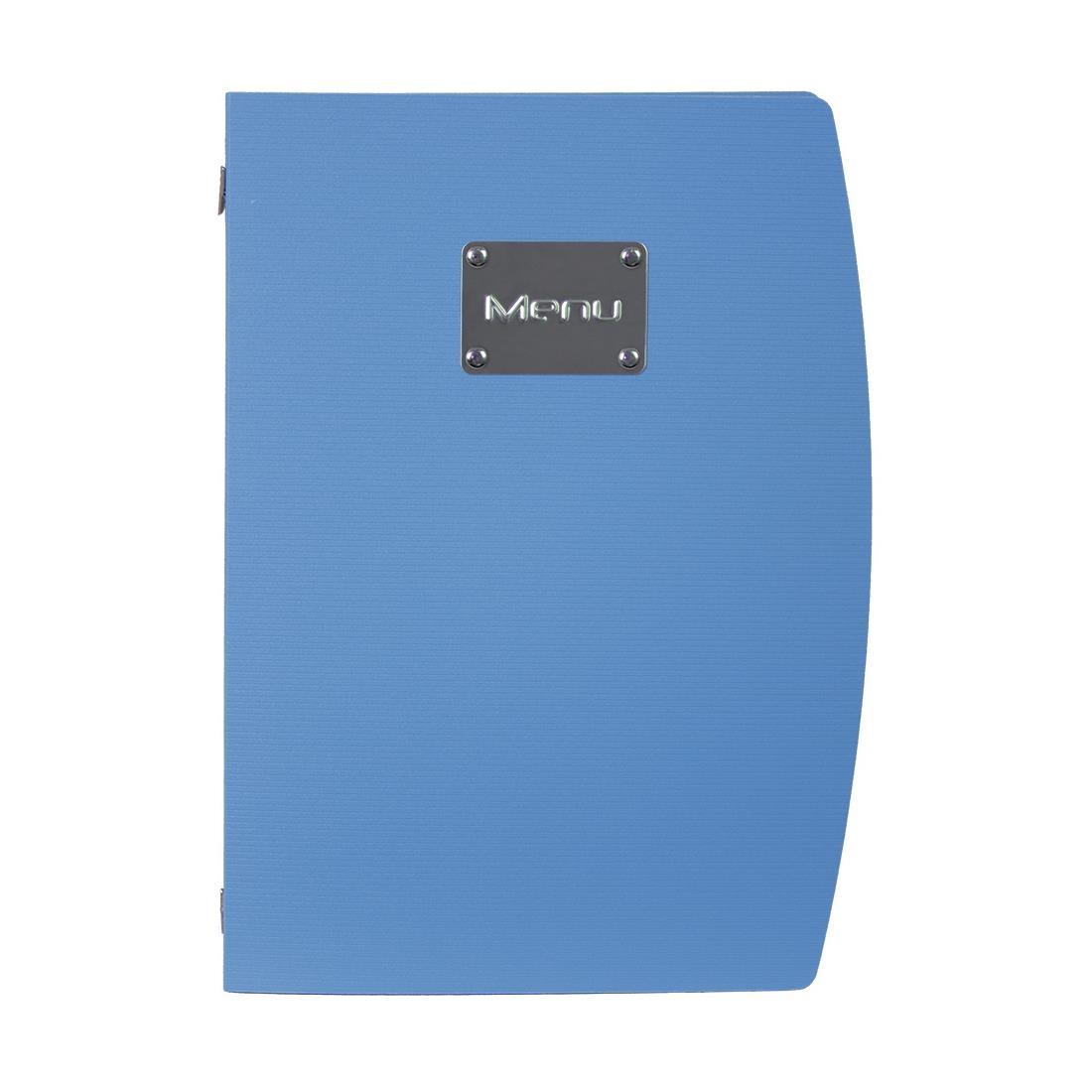 Securit Rio Menu Cover Blue A4