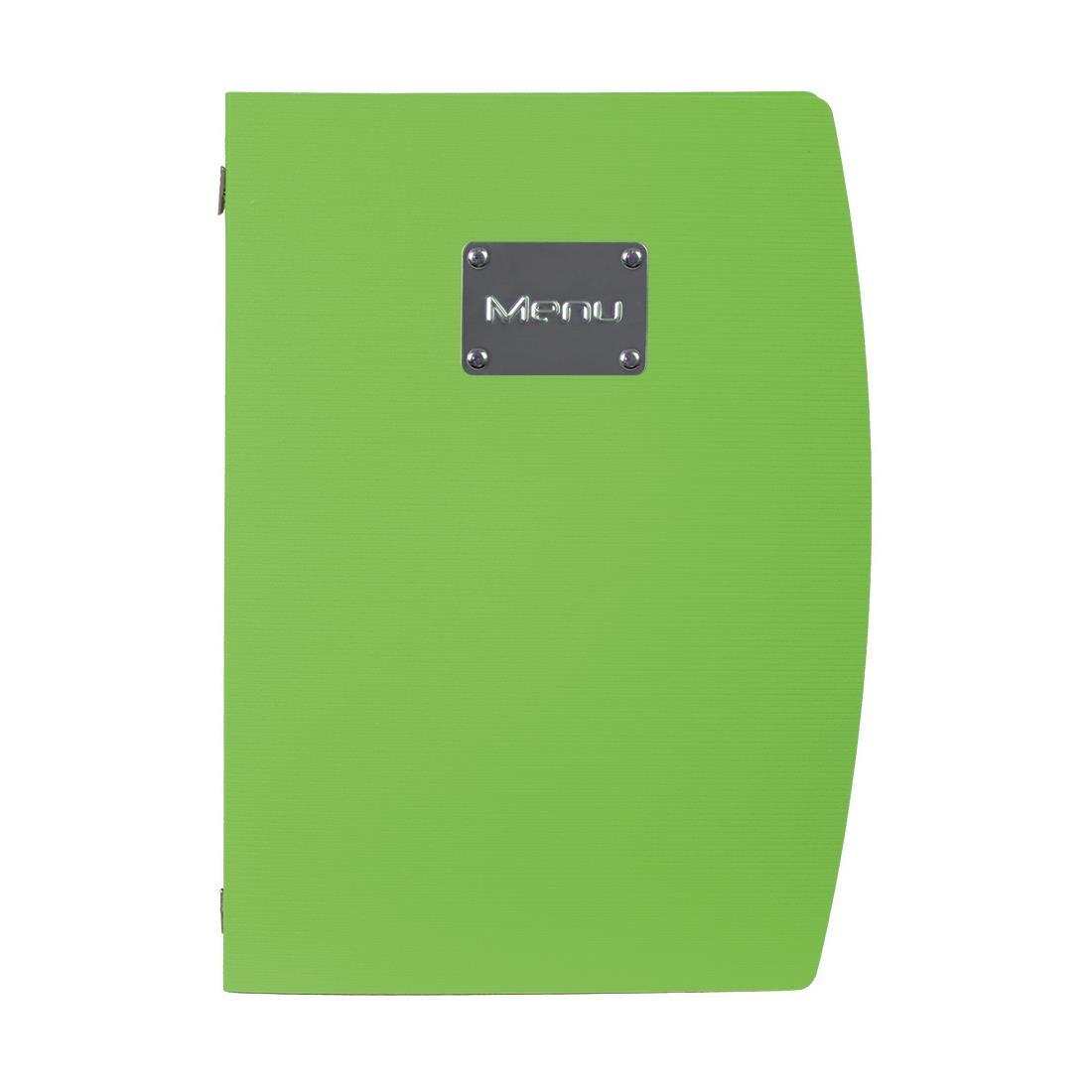 Securit Rio Menu Cover Green A4