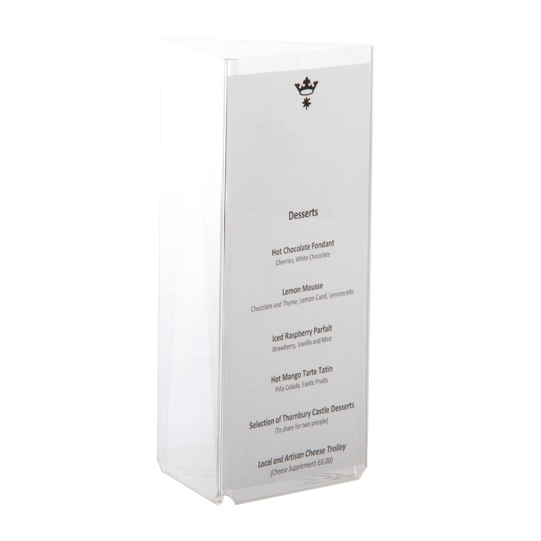 Three Sided A6 Table Talker