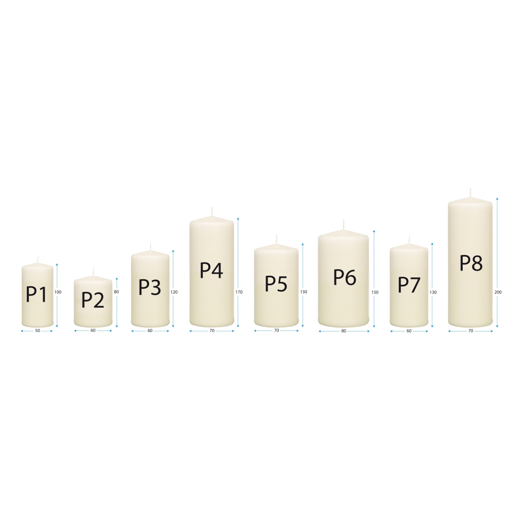 Pillar Candle Dimensions